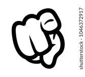 cartoon pointing finger | Shutterstock .eps vector #1046372917