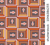 seamless abstract pattern with... | Shutterstock .eps vector #1046386255