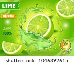lime juice poster advertising... | Shutterstock .eps vector #1046392615