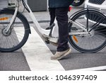 electrical bike detail in the... | Shutterstock . vector #1046397409