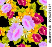 beautiful floral seamless... | Shutterstock .eps vector #1046399689