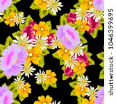 beautiful floral seamless... | Shutterstock .eps vector #1046399695