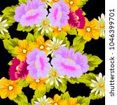 beautiful floral seamless... | Shutterstock .eps vector #1046399701