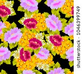 beautiful floral seamless... | Shutterstock .eps vector #1046399749