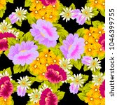 beautiful floral seamless... | Shutterstock .eps vector #1046399755