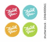 thank you abstract vector flat... | Shutterstock .eps vector #1046400061