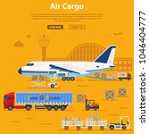 air cargo delivery and... | Shutterstock .eps vector #1046404777