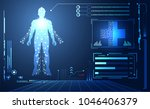 abstract health hud ui... | Shutterstock .eps vector #1046406379