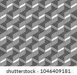 abstract geometric cube vector... | Shutterstock .eps vector #1046409181