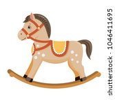 Stock vector rocking horse baby toy isolated on white background vector illusrtation 1046411695