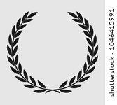 laurel wreath  sports emblem ... | Shutterstock . vector #1046415991