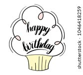 happy birthday isolated vector... | Shutterstock .eps vector #1046418259