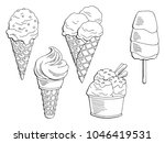 ice cream dessert graphic black ... | Shutterstock .eps vector #1046419531