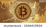 3d gold bitcoin currency and... | Shutterstock .eps vector #1046419834