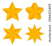 gold stars of different shapes... | Shutterstock .eps vector #1046421859