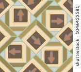 seamless abstract pattern with... | Shutterstock .eps vector #1046423581