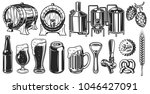 beer object set in vintage... | Shutterstock .eps vector #1046427091