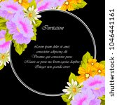 flower frame on black... | Shutterstock .eps vector #1046441161