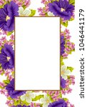 frame of flowers. for your... | Shutterstock .eps vector #1046441179