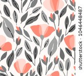 wildflowers seamless pattern.... | Shutterstock .eps vector #1046448487