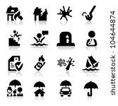 insurance icons set   Shutterstock .eps vector #104644874