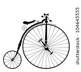 old bicycle template with clean ...