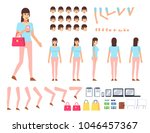 young woman creation kit.... | Shutterstock .eps vector #1046457367