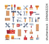 builders tools pixel art icons... | Shutterstock .eps vector #1046462224