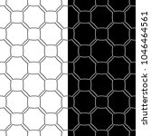 black and white geometric... | Shutterstock .eps vector #1046464561