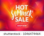 hot summer sale banner design.... | Shutterstock .eps vector #1046474464