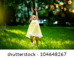girl with bubbles | Shutterstock . vector #104648267