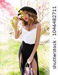 spring attractive romantic... | Shutterstock . vector #1046482711