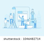 vector illustration in flat... | Shutterstock .eps vector #1046482714