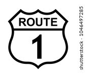 us route 1 sign  shield sign...   Shutterstock .eps vector #1046497285