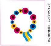 logo of poppies  stylization... | Shutterstock .eps vector #1046497624