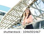 successful business woman... | Shutterstock . vector #1046501467