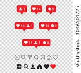 set of social media icons  ... | Shutterstock .eps vector #1046504725