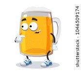 Cartoon Mug Of Beer Mascot...