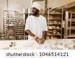 african american baker... | Shutterstock . vector #1046514121