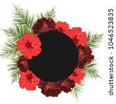 summer hawaiian flyer design...   Shutterstock .eps vector #1046523835
