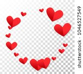 love background with hearts.... | Shutterstock .eps vector #1046527549