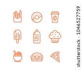 outline vector set of tasty... | Shutterstock .eps vector #1046527759