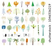 set of forty vector... | Shutterstock .eps vector #1046536219