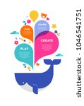 children summer camp  poster... | Shutterstock .eps vector #1046541751
