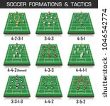 soccer cup formation and tactic ... | Shutterstock .eps vector #1046542774