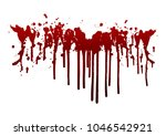 collection various blood or... | Shutterstock .eps vector #1046542921