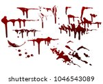 collection various blood or... | Shutterstock .eps vector #1046543089
