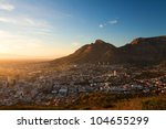 view of the city cape town in... | Shutterstock . vector #104655299