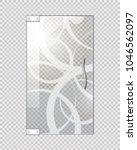 glassy entrance door with wavy... | Shutterstock .eps vector #1046562097