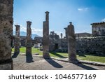 Small photo of Ruins in Pompei, Italy. Detail of the archaeological excavations of Pompei, Italy.